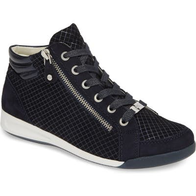 Ara Rylee High Top Sneaker- Black