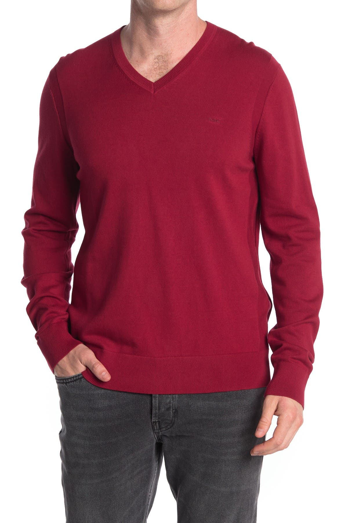Image of Michael Kors V-Neck Pullover Sweater