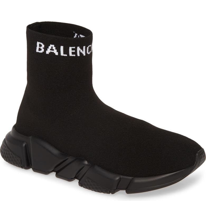 BALENCIAGA Speed Sock Slip-On, Main, color, NERO/ NATURAL