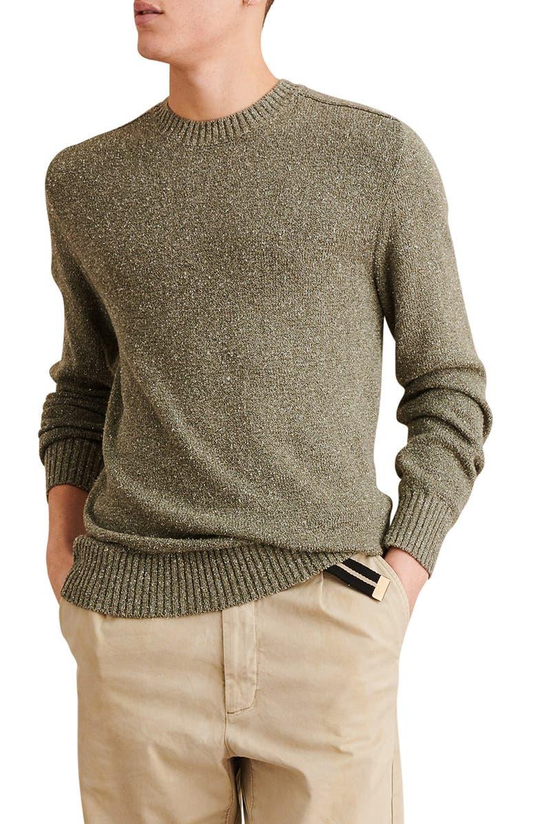 ALEX MILL Donegal Cotton & Silk Crewneck Sweater, Main, color, 331