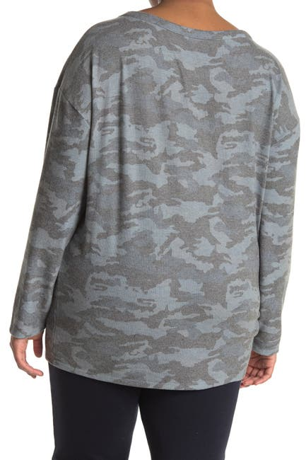 Image of Chaser Camo Love Brushed Knit Pullover
