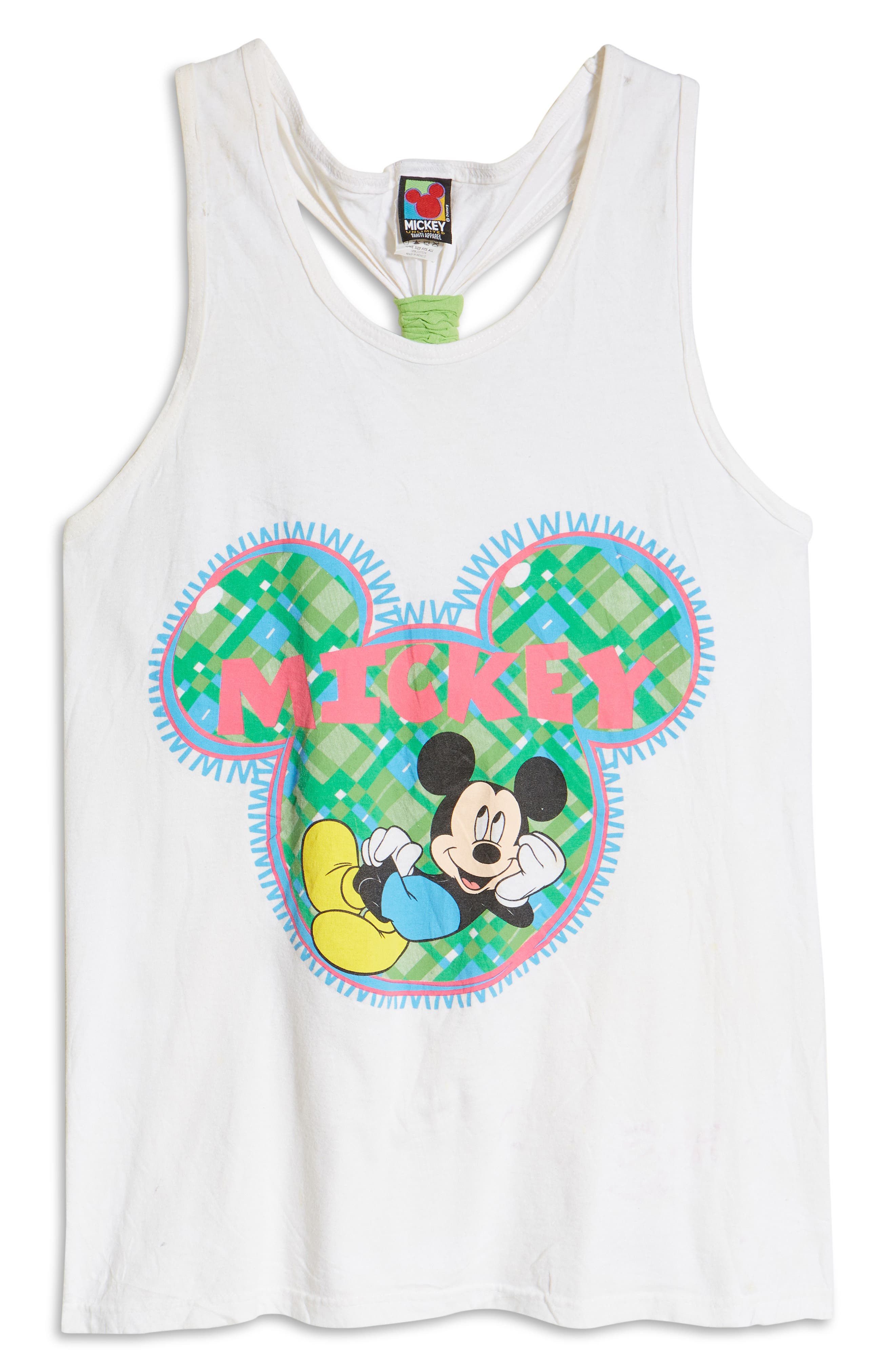 Unisex Secondhand Mickey Mouse Graphic Tank