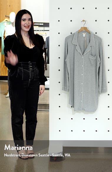 Gisele Stretch Jersey Sleep Shirt, sales video thumbnail