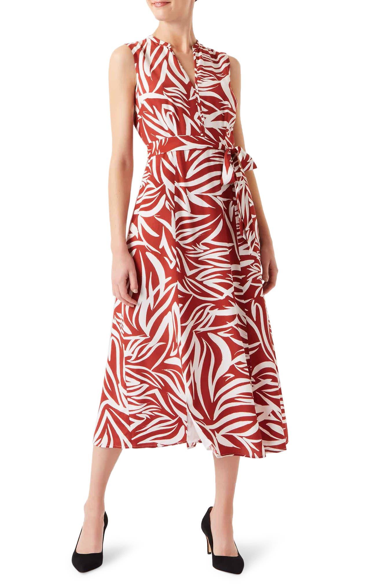 Image of Hobbs Shelly Print Sleeveless Dress
