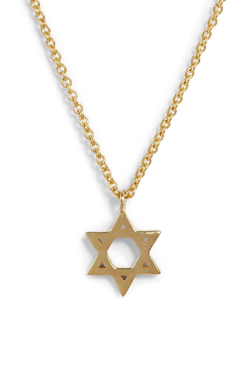 BONY LEVY 14K Star of David Pendant Necklace, Main, color, YELLOW GOLD/ DIA