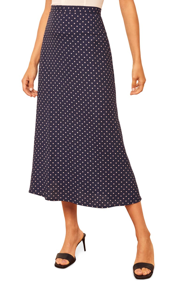 REFORMATION Bea Midi Skirt, Main, color, AFTERNOON