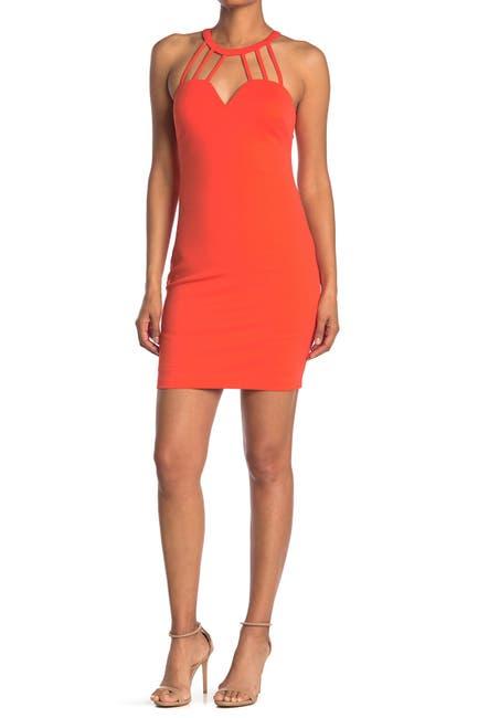 Image of GUESS Strappy Sleeveless Mini Dress