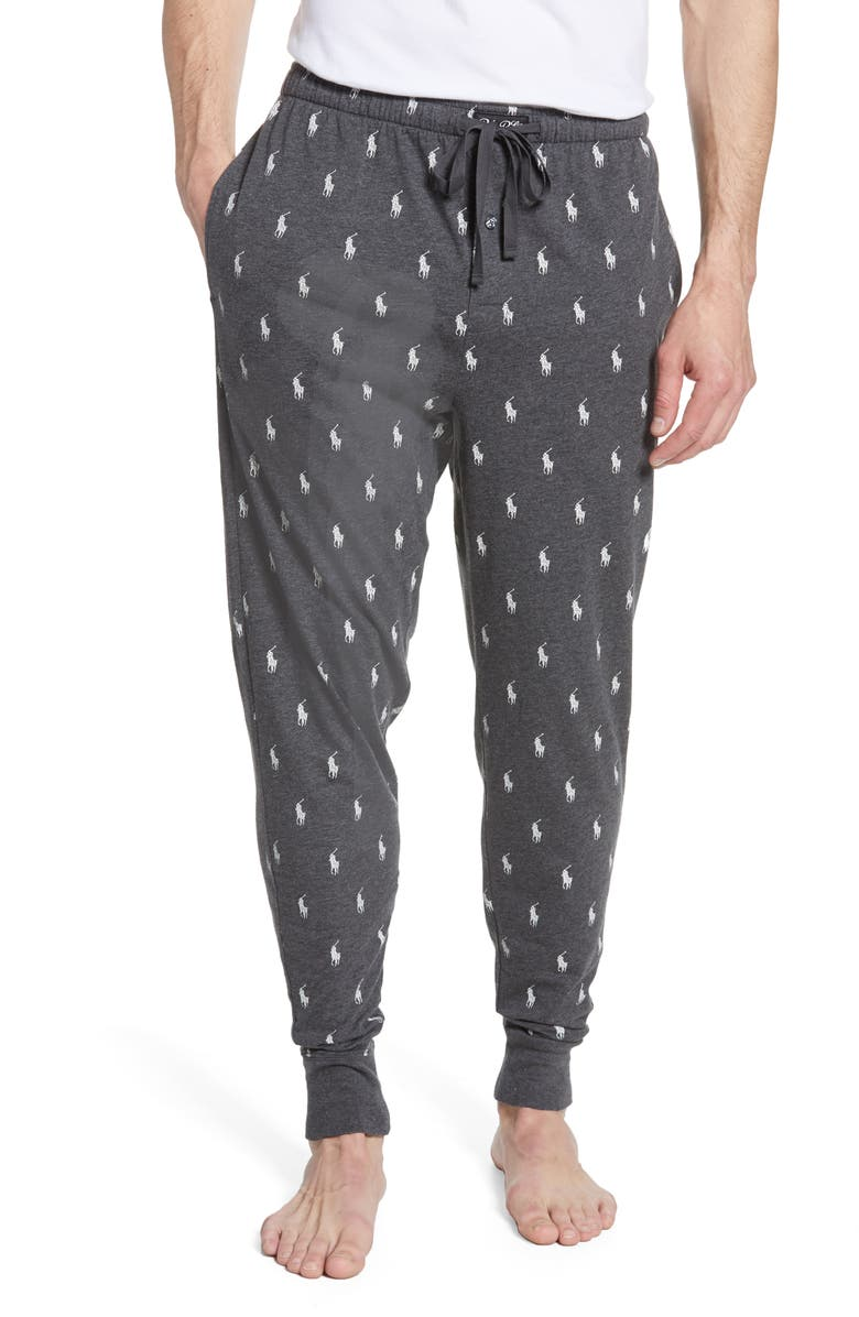 POLO RALPH LAUREN Cotton Pajama Pants, Main, color, GREY