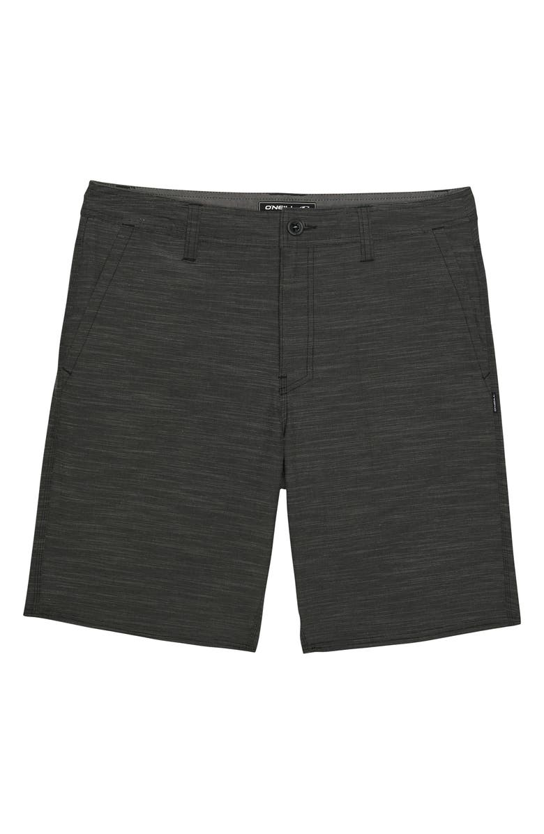 O'NEILL Locked Slub Hybrid Shorts, Main, color, GRAPHITE