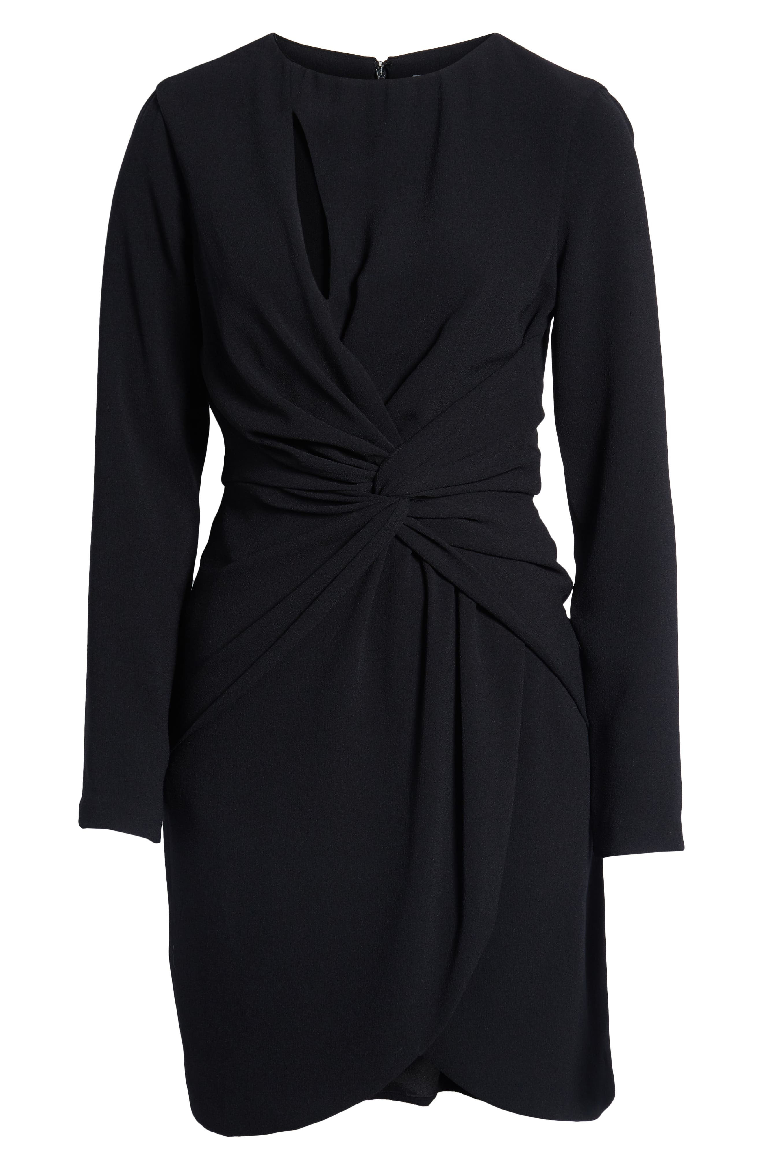 ,                             Coby Twisted Faux Wrap Cocktail Dress,                             Alternate thumbnail 6, color,                             001