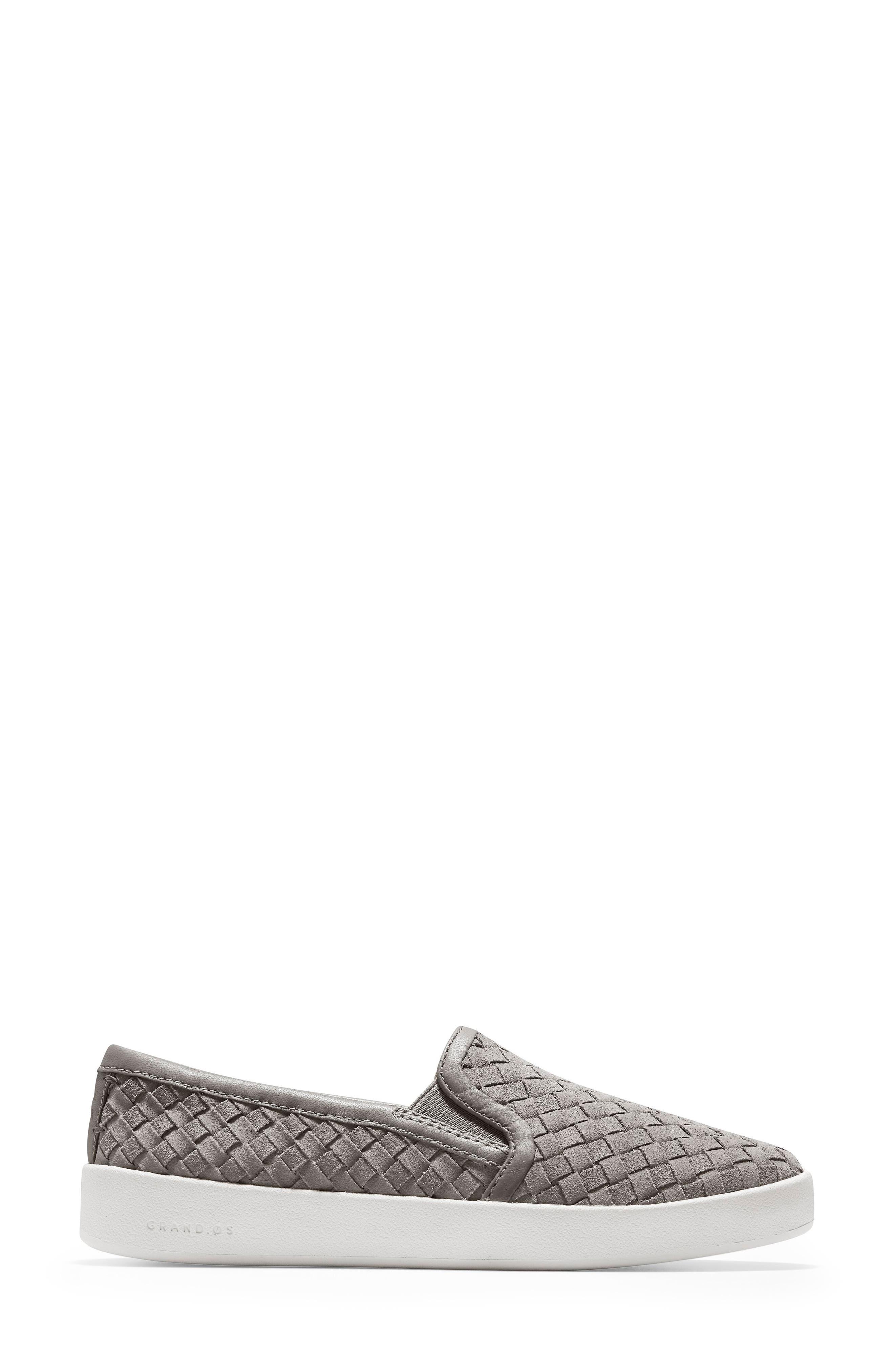 ,                             GrandPro Woven Slip-On Sneaker,                             Alternate thumbnail 3, color,                             IRONSTONE WOVEN SUEDE