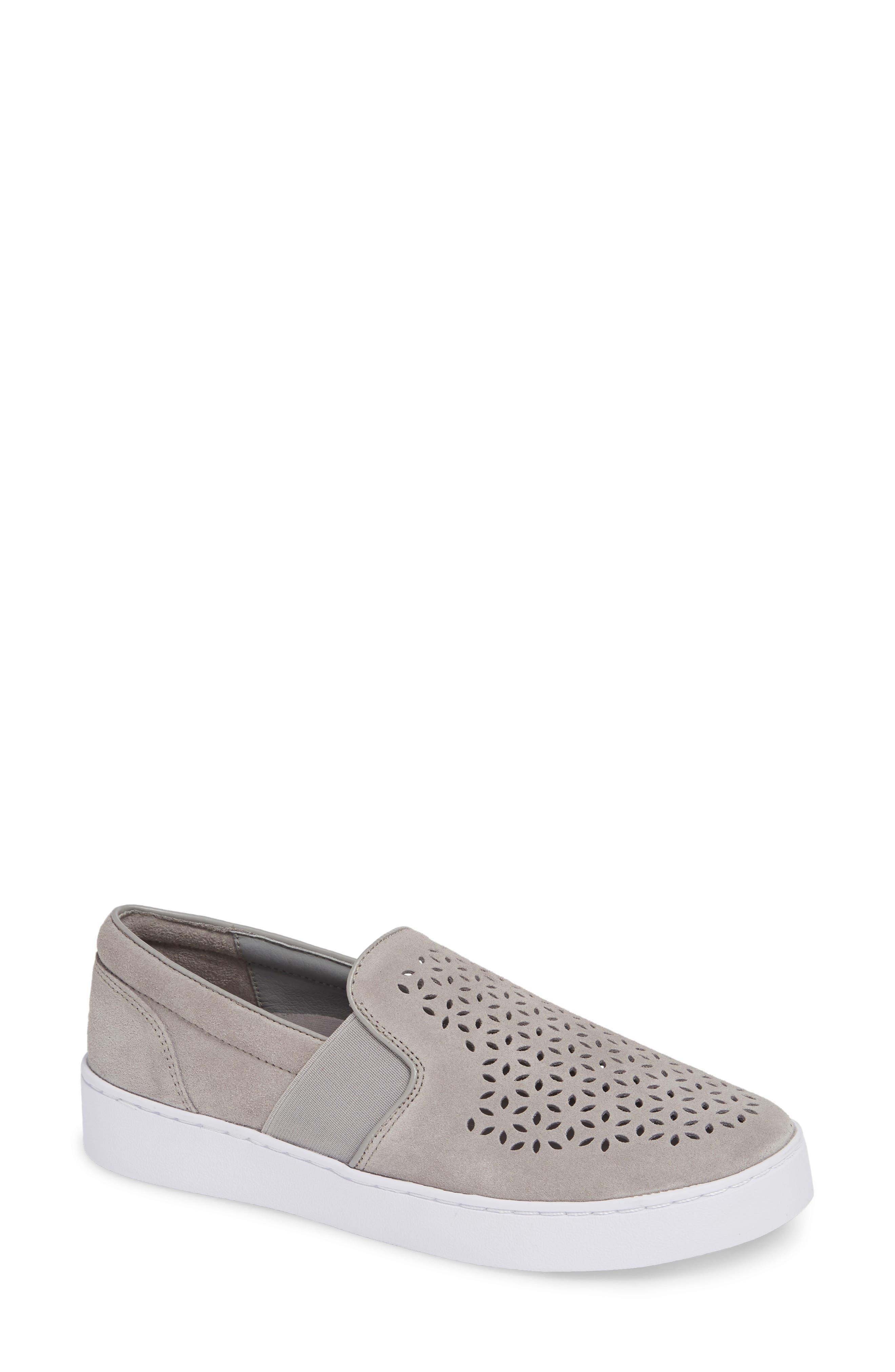Vionic Kani Perforated Slip-On Sneaker, Grey