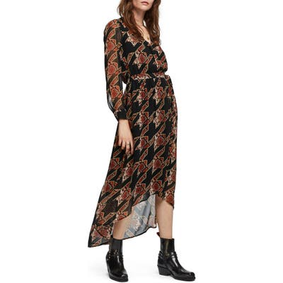 Scotch & Soda Long Sleeve Maxi Dress, Black