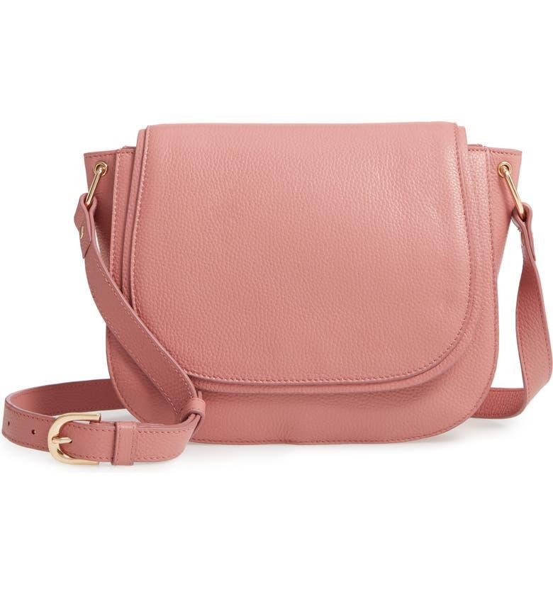 Pebbled Leather Shoulder Bag by Nordstrom