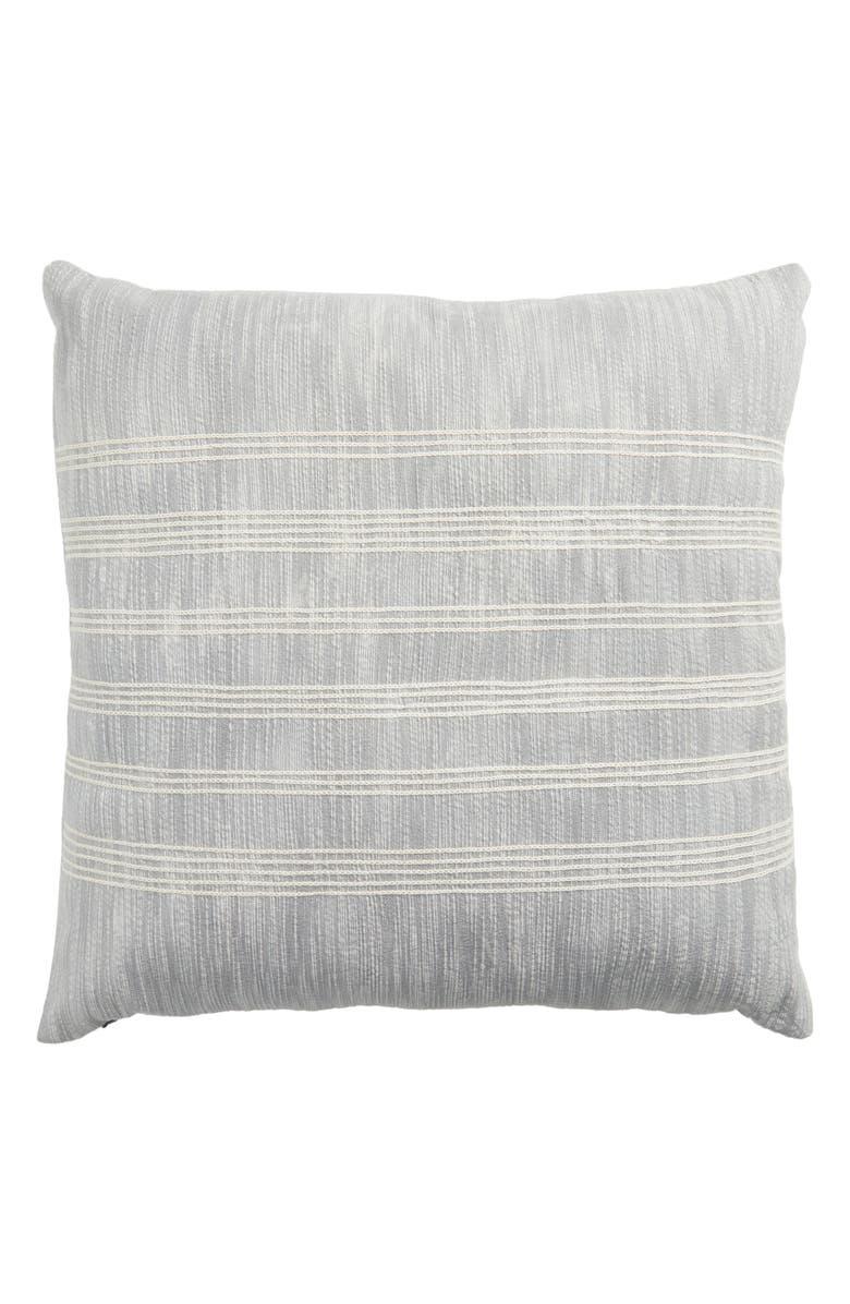 TREASURE & BOND Embroidered Stripe Accent Pillow, Main, color, 420