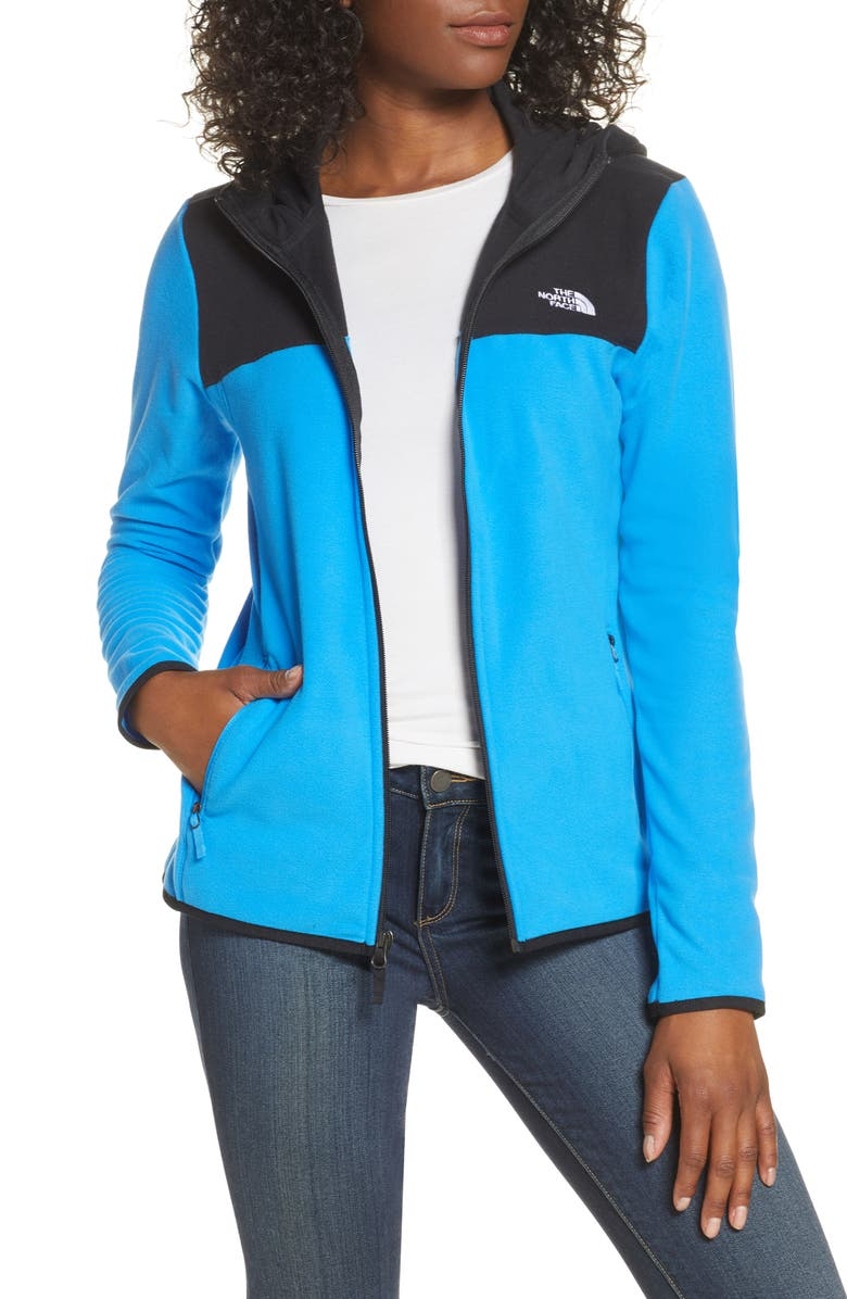 THE NORTH FACE TKA Glacier Hooded Jacket, Main, color, CLEAR LAKE BLUE/ TNF BLACK