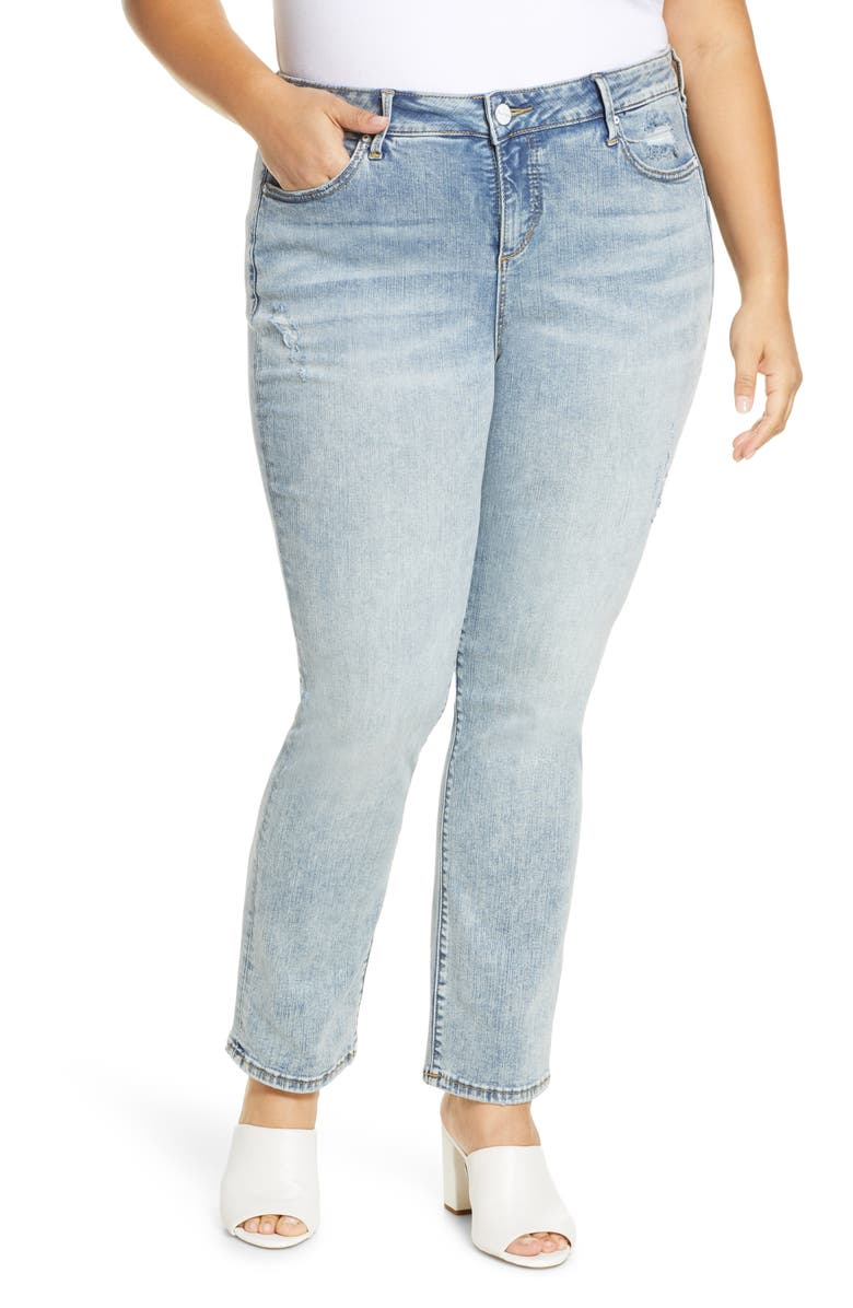 SLINK JEANS High Waist Straight Leg Jeans, Main, color, MILLIE