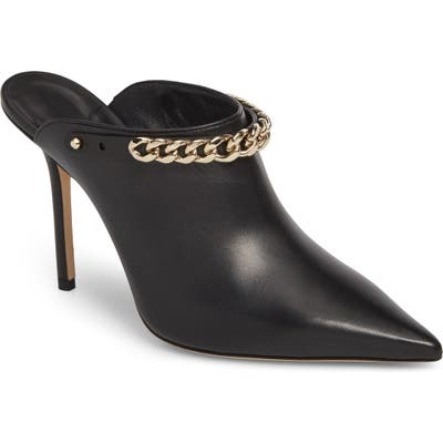 Jimmy Choo Lexx Chain Pointy Toe Mule, Black