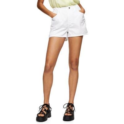 Topshop Sofia Beach Denim Shorts, US - White