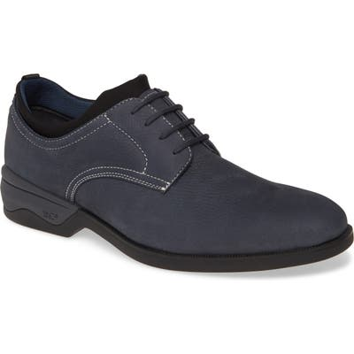 Johnston & Murphy Elkins Waterproof Plain Toe Derby- Blue