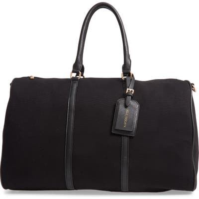 Sole Society Lacie Faux Leather Duffle Bag - Black