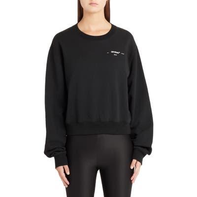 Off-White Hanna Leaves Crop Crewneck Sweatshirt