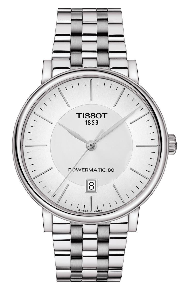 TISSOT T-Classic Carson Powermatic Bracelet Watch, 40mm, Main, color, 040