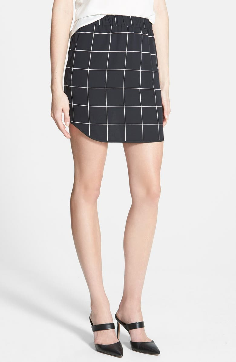 TROUVÉ Pull-On Skirt, Main, color, 001