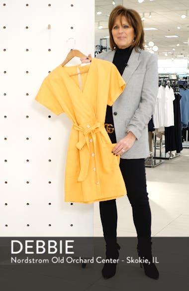 Linen Blend Surplice Dress, sales video thumbnail