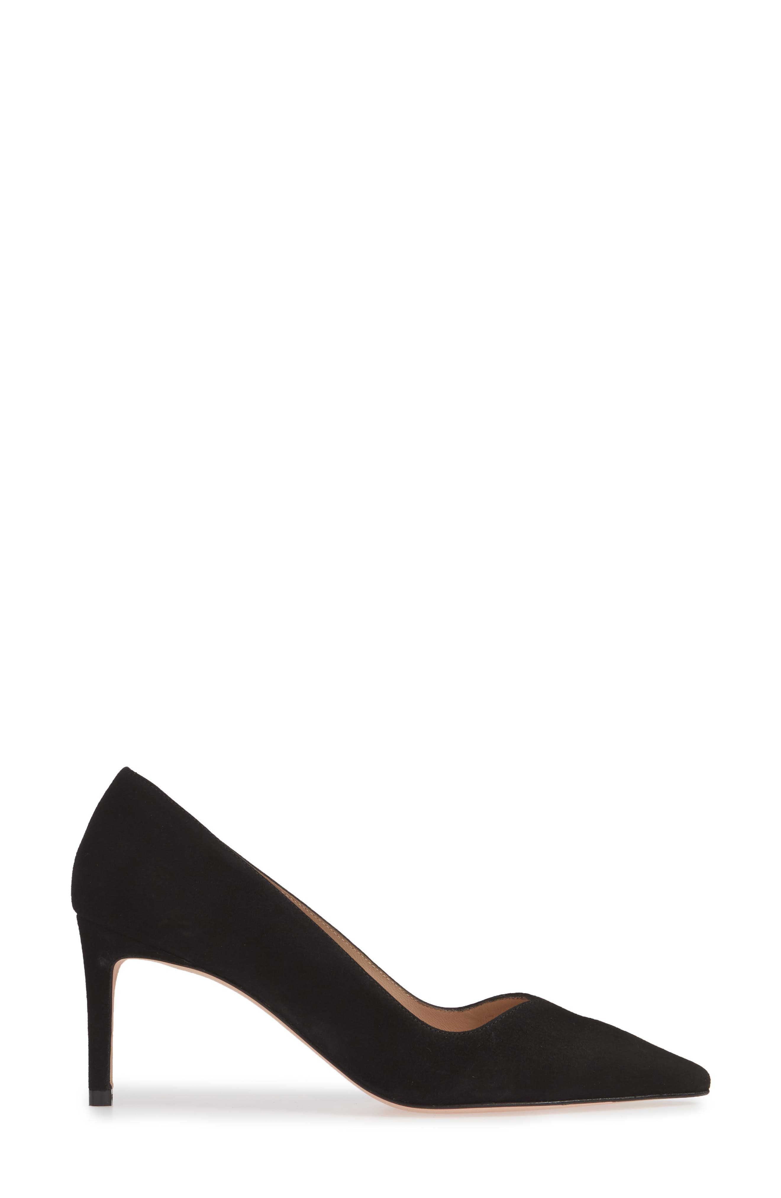 ,                             Anny Pointy Toe Pump,                             Alternate thumbnail 3, color,                             BLACK SUEDE