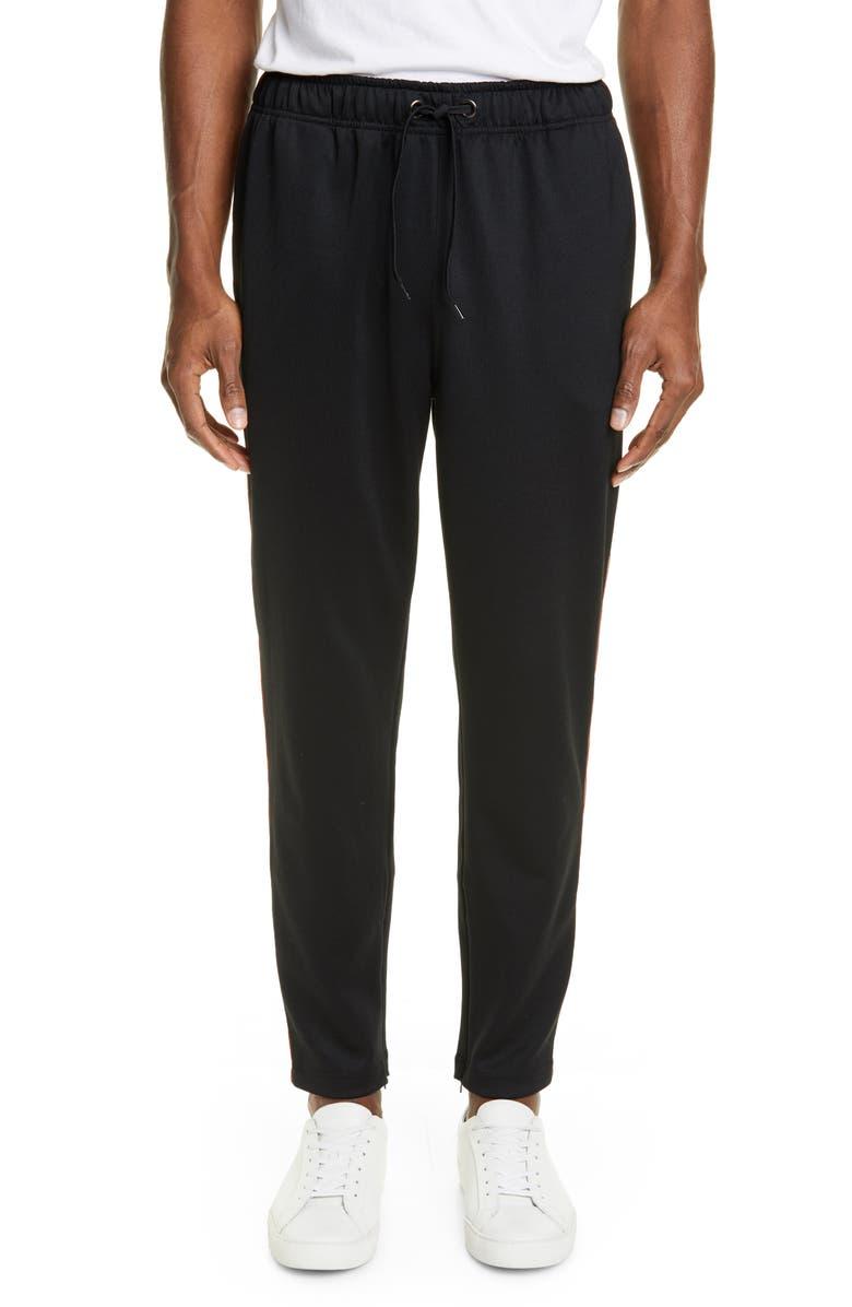 BURBERRY Sorrento Icon Stripe Slim Fit Track Pants, Main, color, BLACK