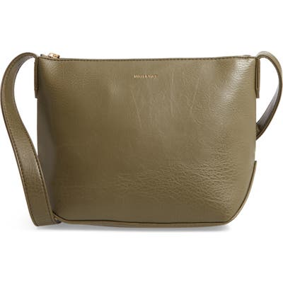 Matt & Nat Large Sam Faux Leather Crossbody Bag - Green