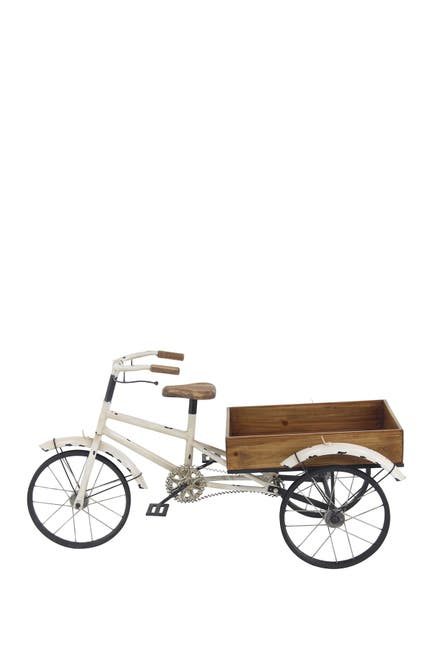 Image of Willow Row Farmhouse Wood and Metal Tricycle Plant Holder