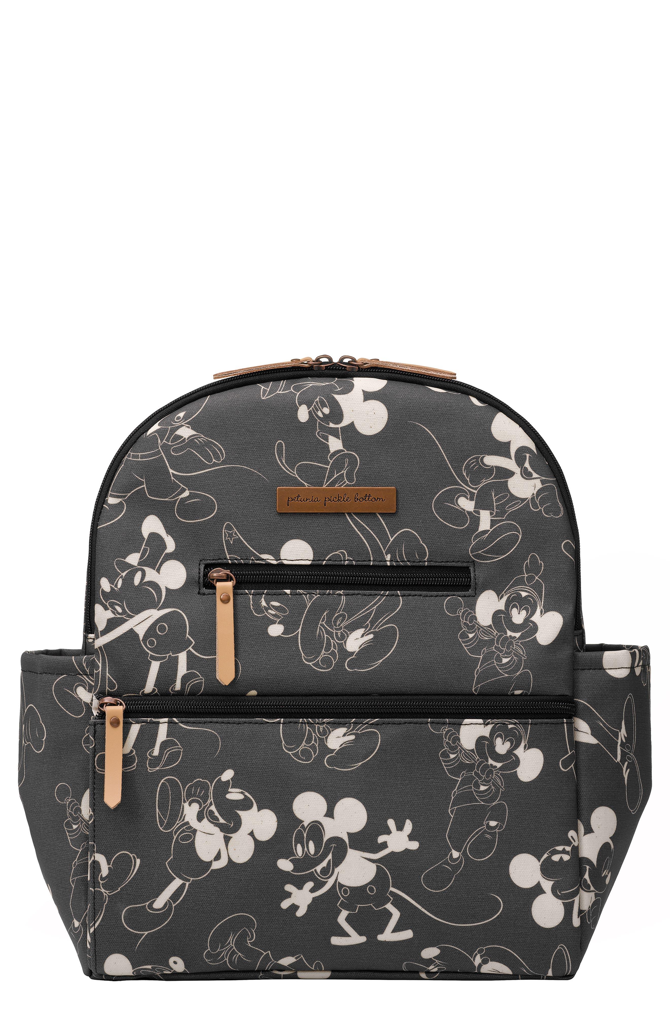Infant Petunia Pickle Bottom Disney Collaboration Ace Backpack  Black