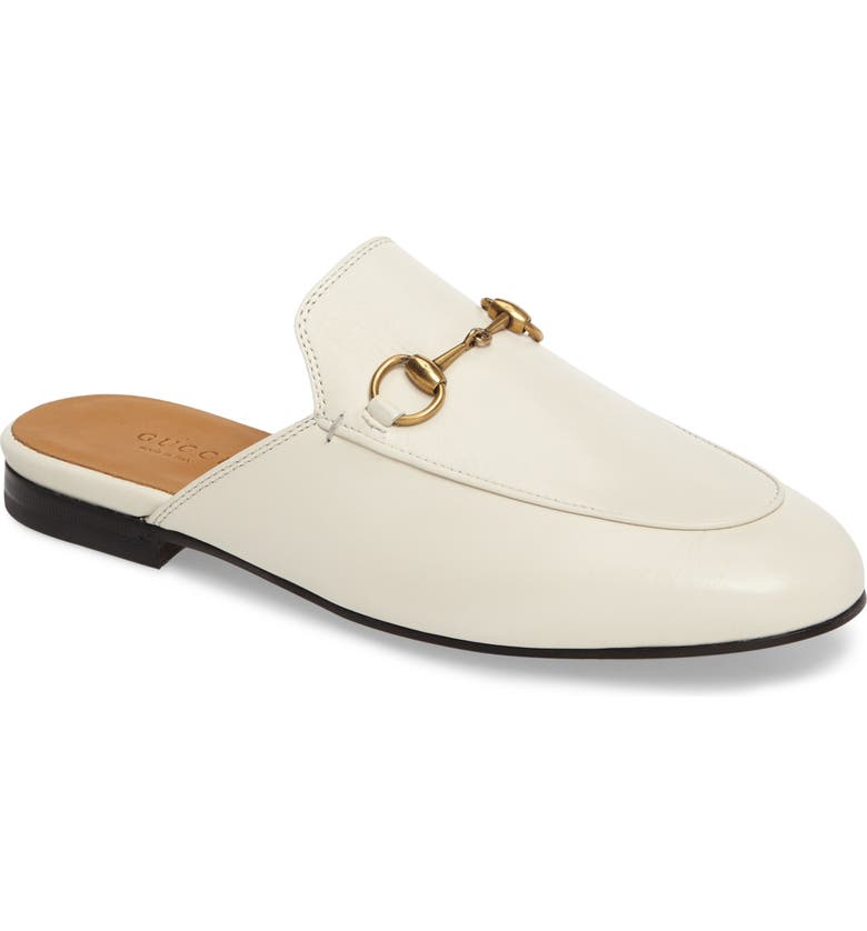 GUCCI Princetown Loafer Mule, Main, color, WHITE LEATHER