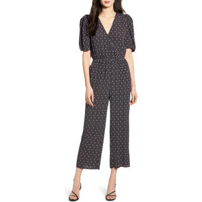 Chelsea28 Wrap Front Jumpsuit, Black