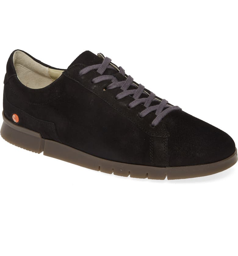 SOFTINOS BY FLY LONDON Cer Low-Top Sneaker, Main, color, BLACK RANCH LEATHER