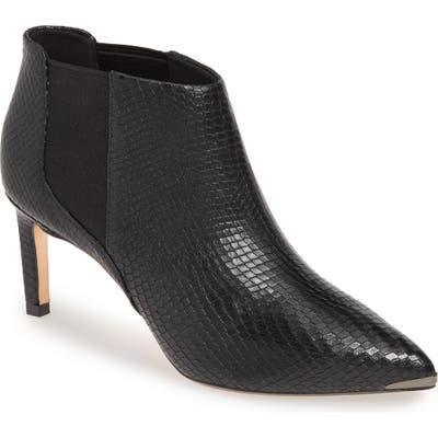 Ted Baker London Beriini Snake Embossed Pointy Toe Bootie - Black