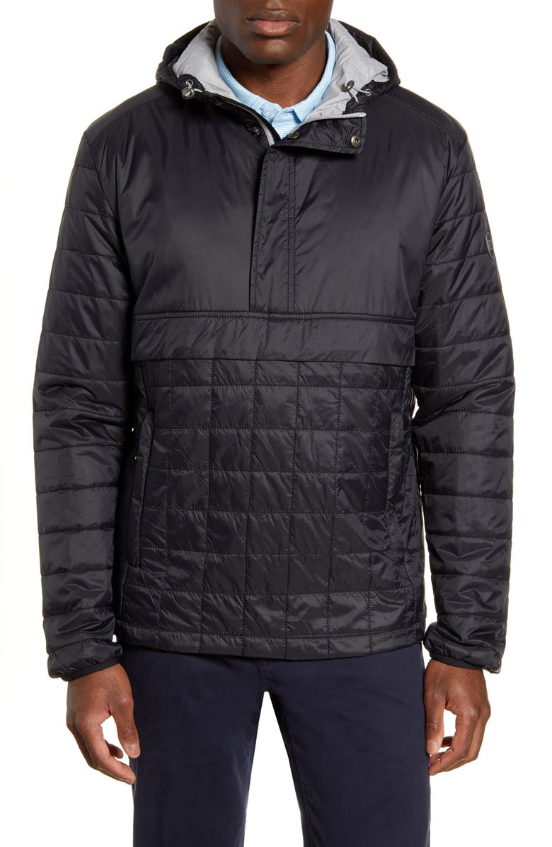 CUTTER & BUCK Rainier PrimaLoft<sup>®</sup> Insulated Half Zip Pullover, Main, color, BLACK