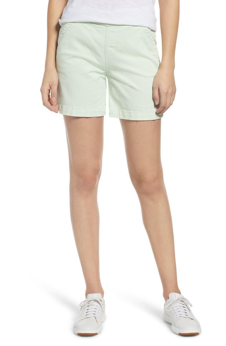 JAG JEANS Gracie Cotton Blend Shorts, Main, color, MINT GREEN