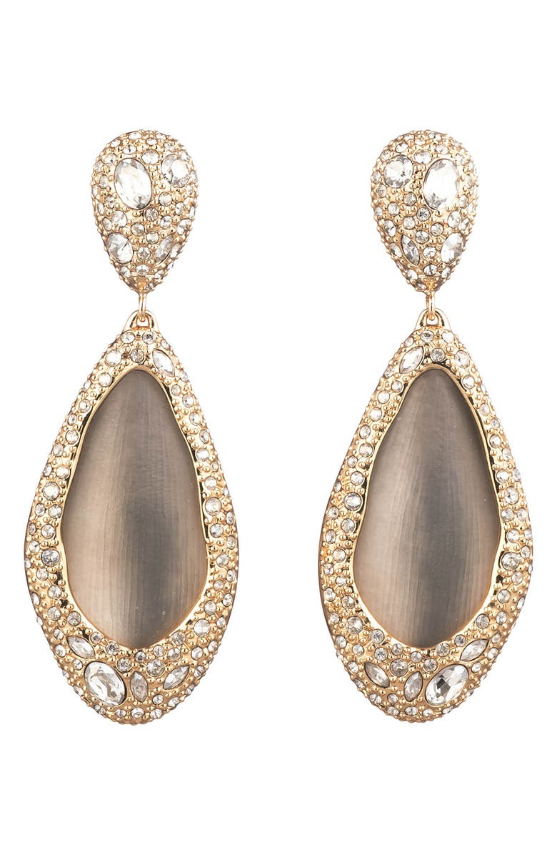 ALEXIS BITTAR Crystal Encrusted Teardrop Clip Earrings, Main, color, 020