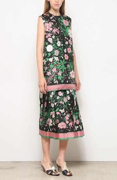 Flora Print Silk Twill Tunic, video thumbnail