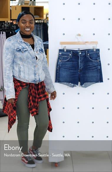 Marlow Easy High Waist Denim Shorts, sales video thumbnail