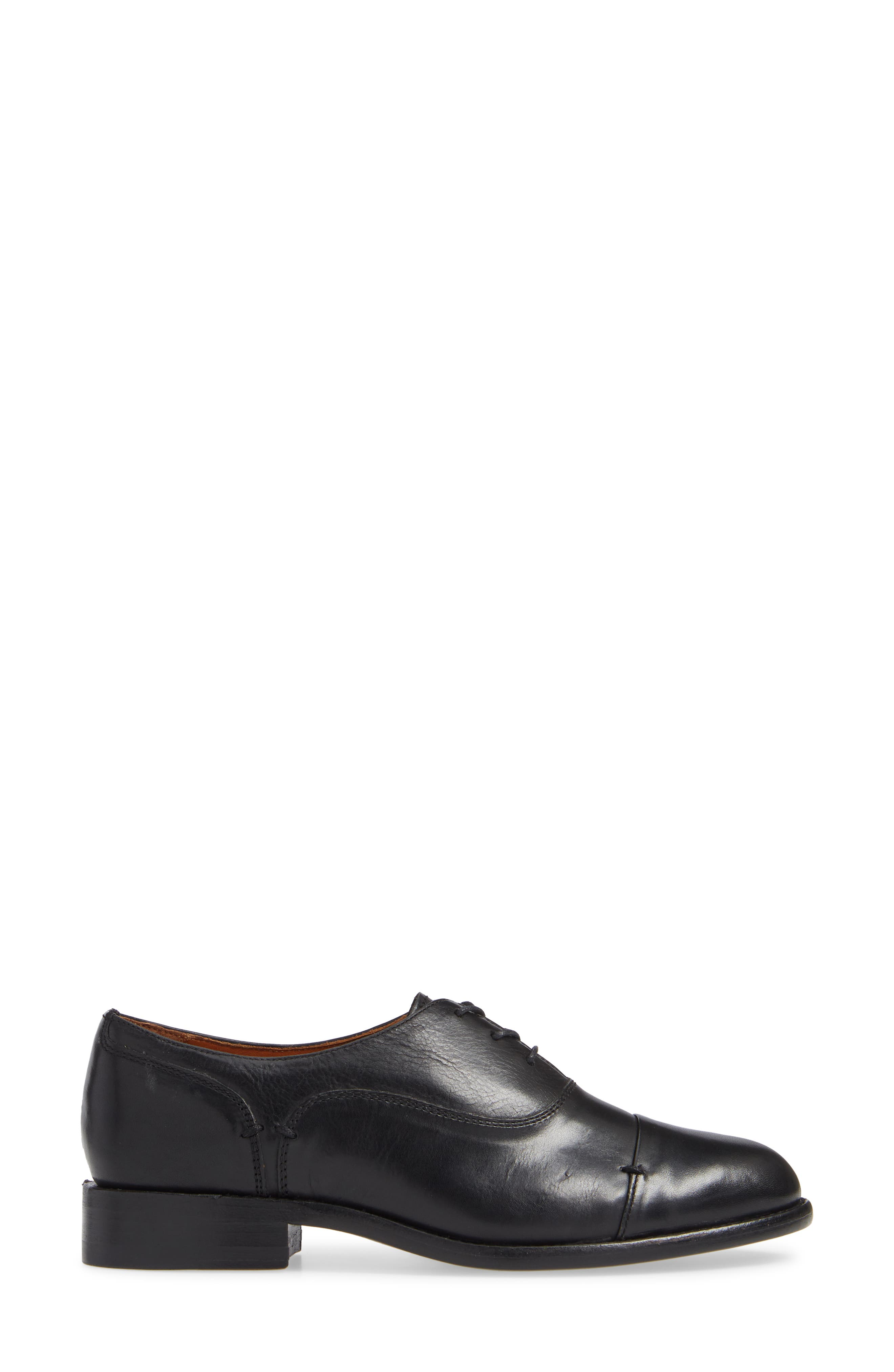 ,                             by Ariat Austen Optional Lace-Up Oxford,                             Alternate thumbnail 3, color,                             BLACK LEATHER