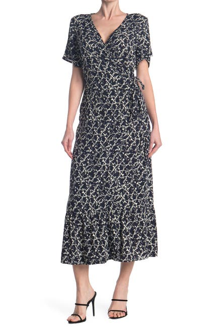Image of VERO MODA Short Sleeve Wrap Dress