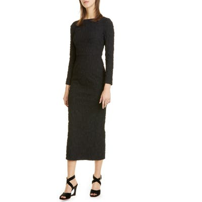 Rachel Comey Ryer Long Sleeve Midi Dress, Black (Nordstrom Exclusive)