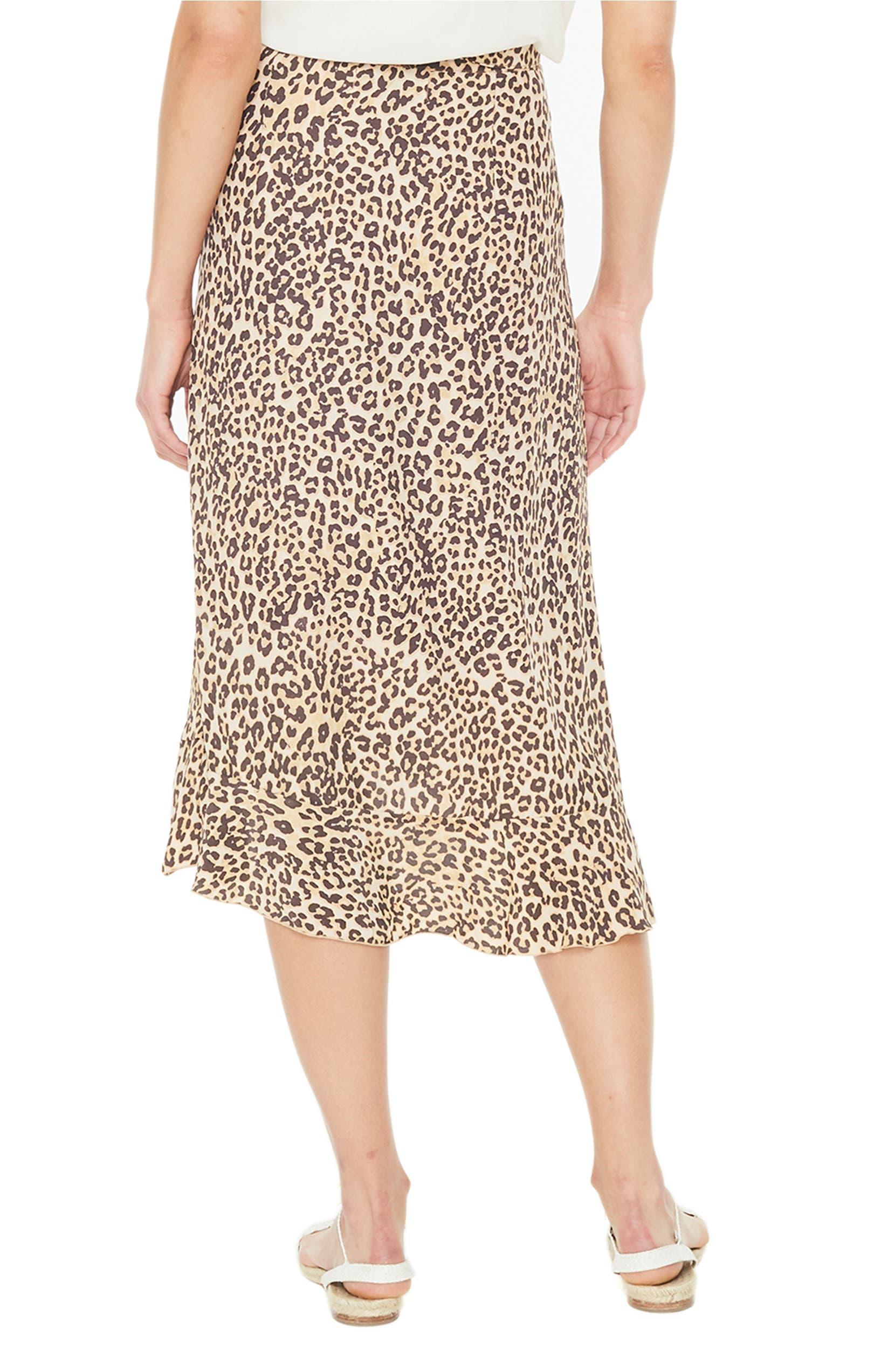 66d31fd7af FAITHFULL THE BRAND Celeste Leopard Print Wrap Skirt   Nordstrom