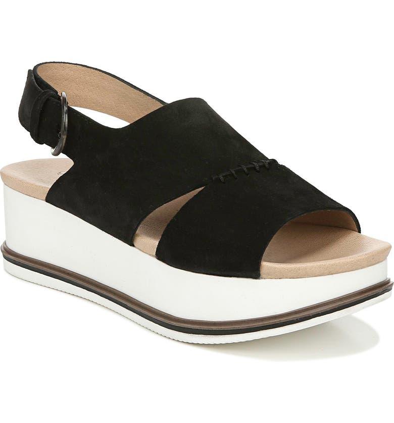 DR. SCHOLL'S Catch Me Sport Sandal, Main, color, BLACK LEATHER