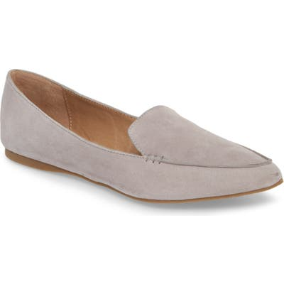 Steve Madden Feather Loafer Flat, Grey