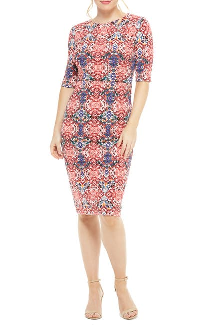Image of Maggy London Jeanie Printed Midi Dress